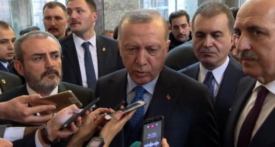 C'umhurbaşkanı Erdoğan: 'Meclis Başkanının istifa etmesine gerek yok