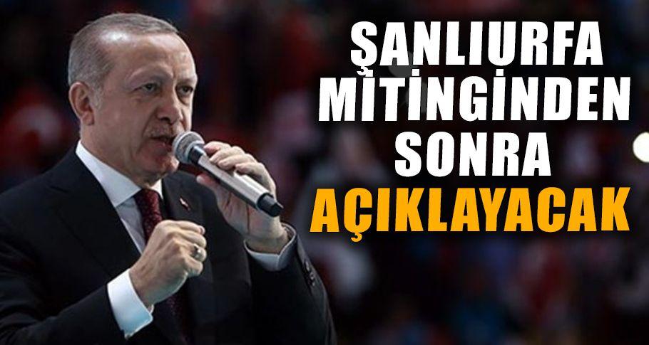 Cumhurbaşkanı Erdoğan Samsun'dan duyurdu!