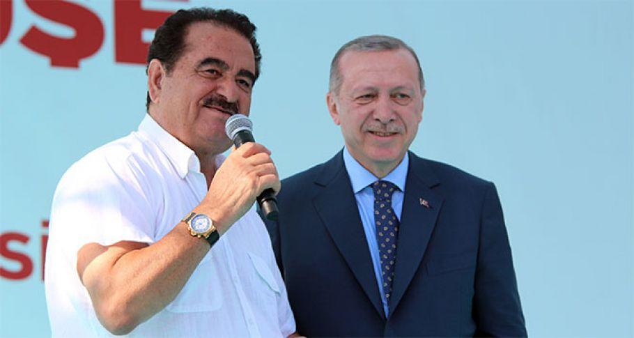 Cumhurbaşkanı Erdoğan, Tatlıses'i sahneye çıkardı