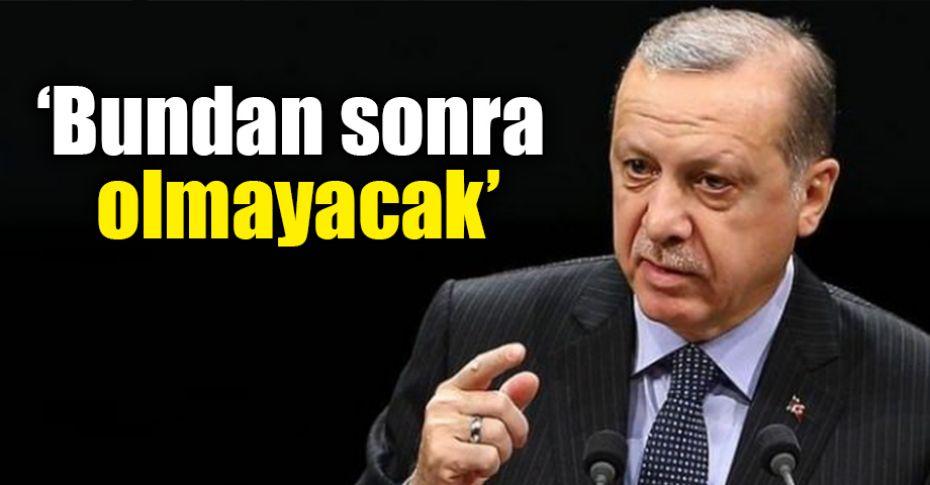 Cumhurbaşkanı Erdoğan'dan Belediyelere uyarı!