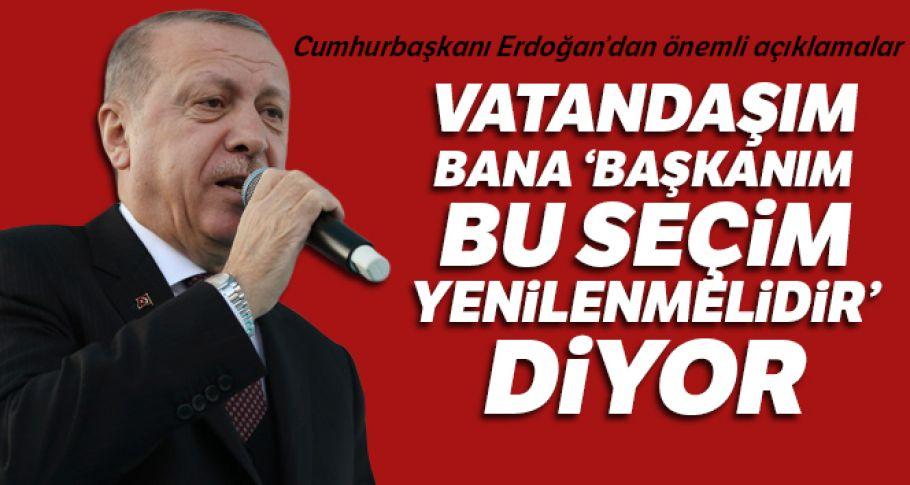 Cumhurbaşkanı Erdoğan'dan flaş açıklamalar !