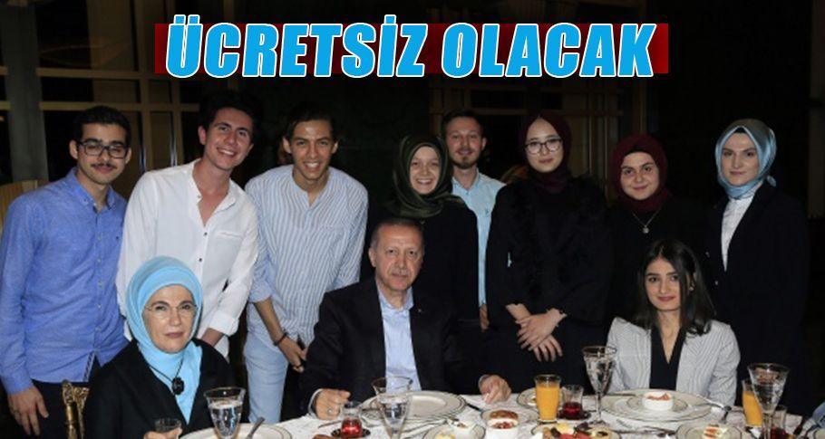 Cumhurbaşkanı Erdoğan'dan öğrencilere güzel haber