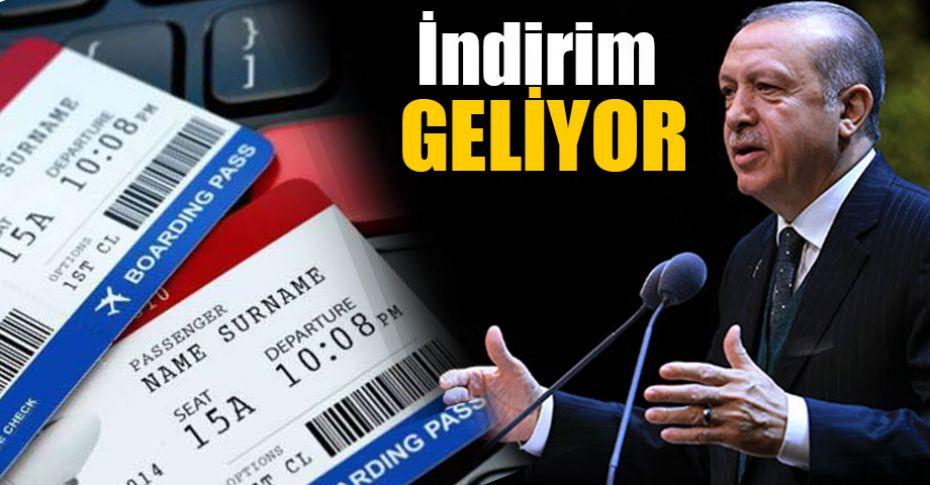 Cumhurbaşkanı Erdoğan'dan 'uçak bileti' müjdesi!