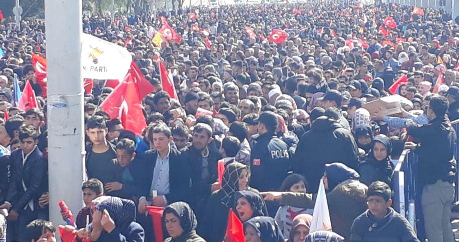 Cumhurbaşkanı Erdoğanın mitinginden  kareler