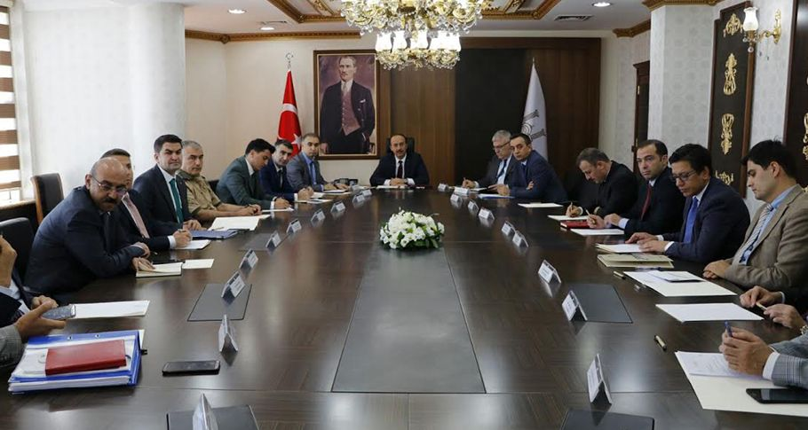 Cumhurbaşkanı Erdoğan'ın Urfa mitingi öncesi güvenlik toplantısı