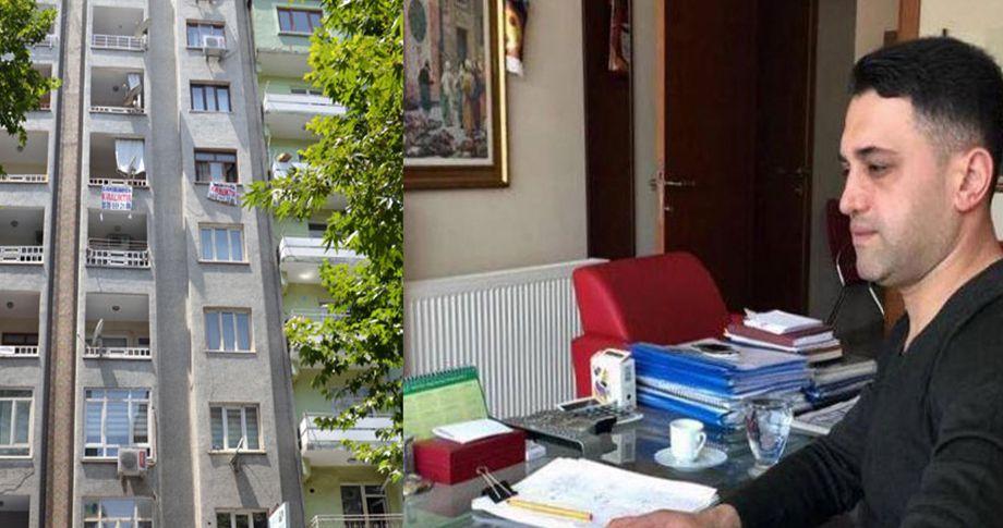 Diyarbakır'da iş adamı 8. kattan atladı!
