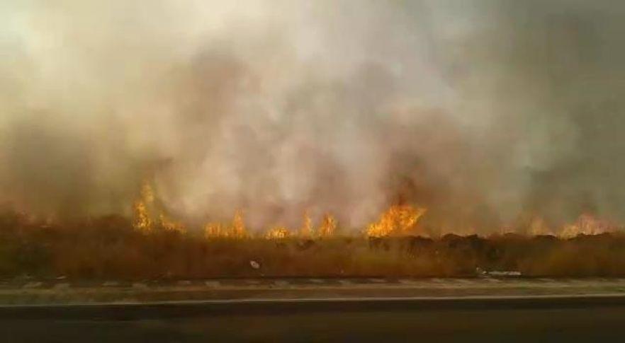 Diyarbakır'da tarladaki yangın hayatı felç etti