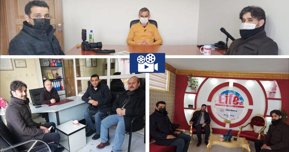 Edessa Tv'den Mardinli Gazetecilere Ziyaret (videolu)