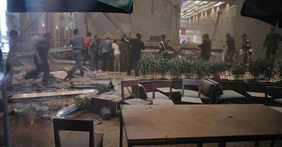 Endonezya'da borsa binasının bir katı çöktü
