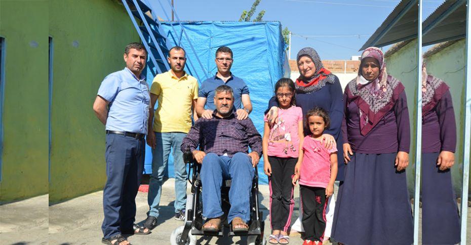 Engelli vatandaşlara akülü tekerlekli sandalye desteği