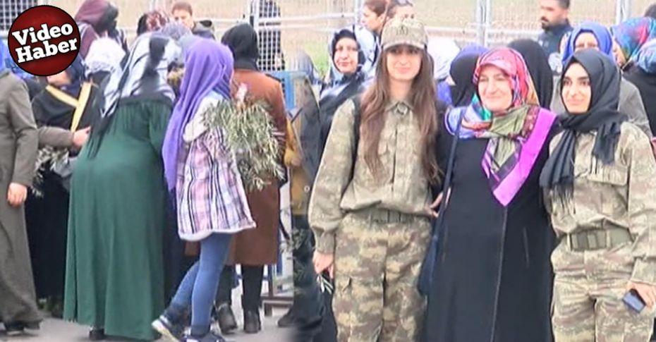 Erdoğan'a Zeytin Dallı, Askeri Kamuflajlı karşılama