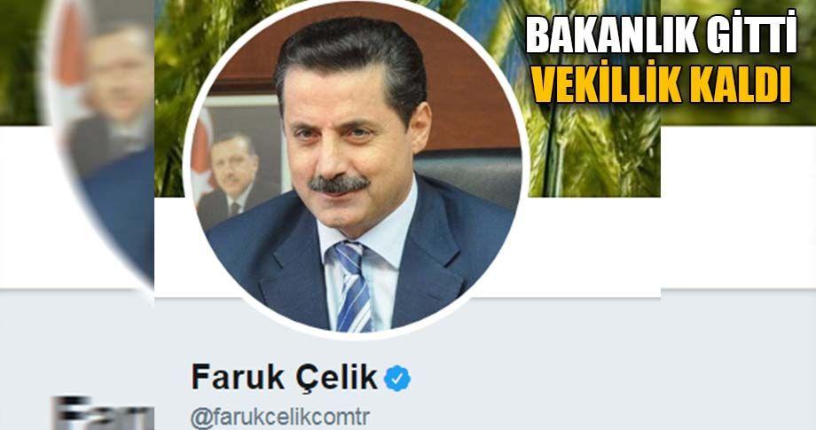 Eski Bakan Çelik, twitter hesabını güncelledi