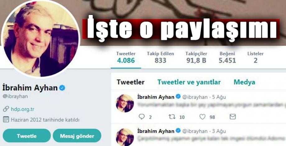 Eski Milletvekili Ayhan'ın son paylaşımı dikkat çekti
