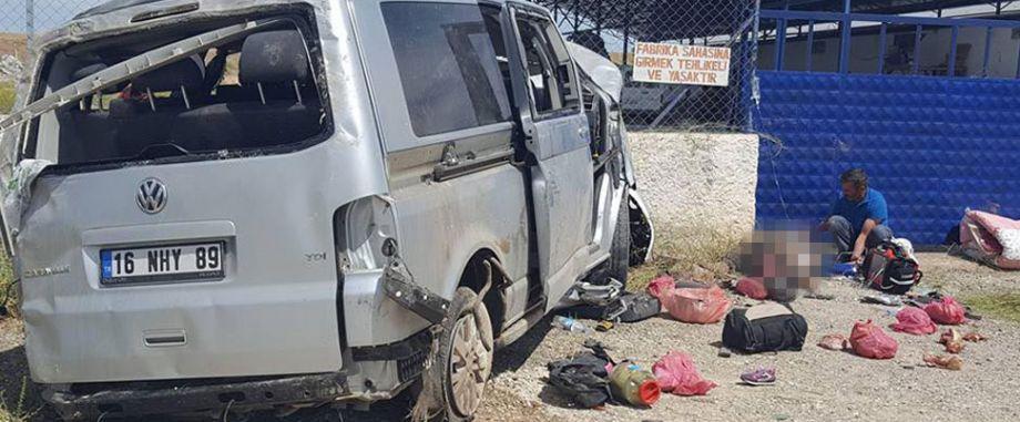 Eskişehir'de feci kaza! 3 ölü 7 yaralı
