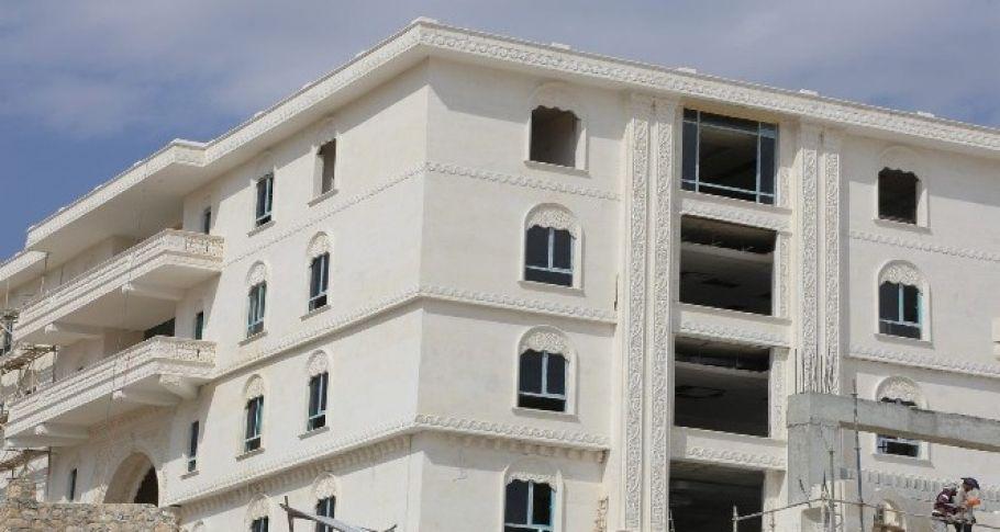 Eyyübiye'de belediye ek binası yapım çalışmaları sona gelindi