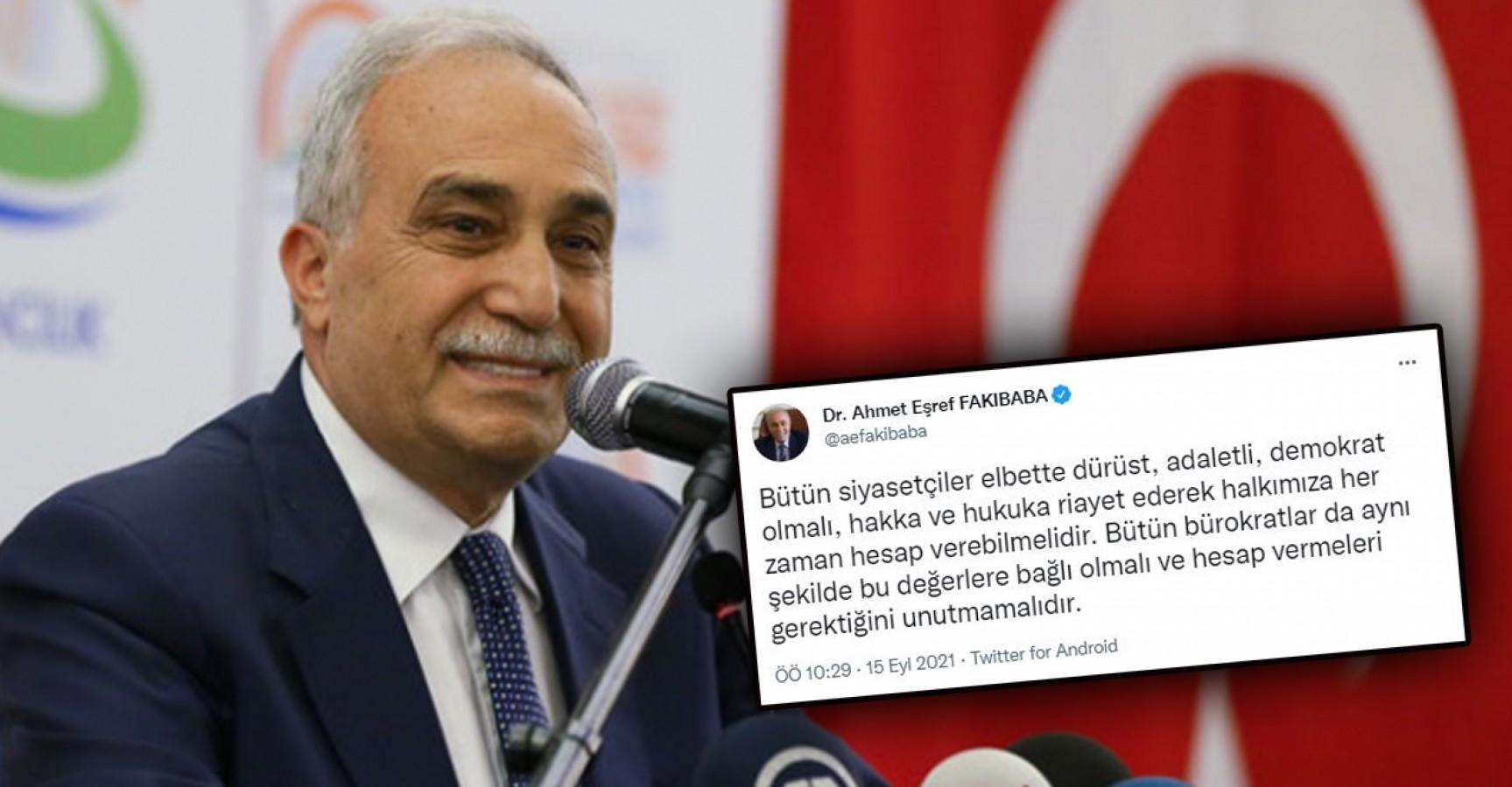 """Fakıbaba'dan manidar paylaşım: """"Hesap verebilmeliler"""""""