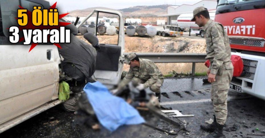 Gaziantep karayolunda katliam gibi kaza!