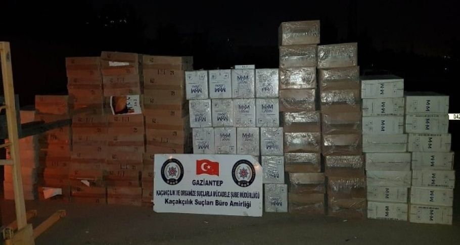 Gaziantep merkezli 3 ilde kaçak sigara operasyonu