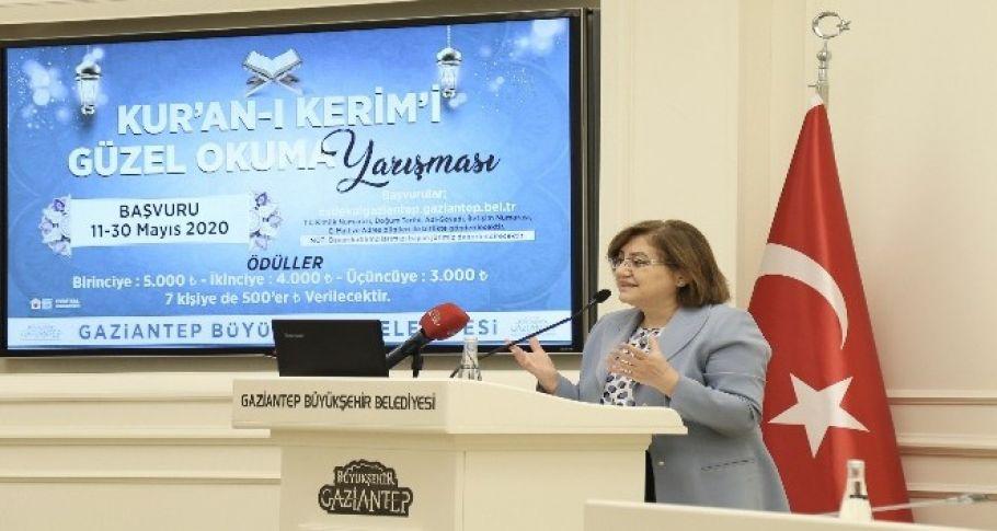Gaziantep'te Kur'an'ı Kerim ve ilahi okuma yarışması ödül töreni düzenlendi