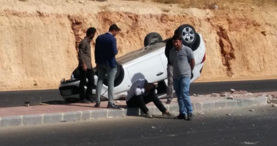 Gaziantep'te otomobil takla attı