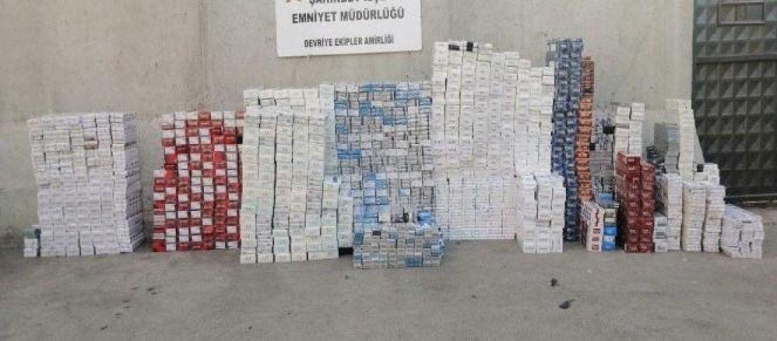 13 bin paket sigara ele geçirildi!