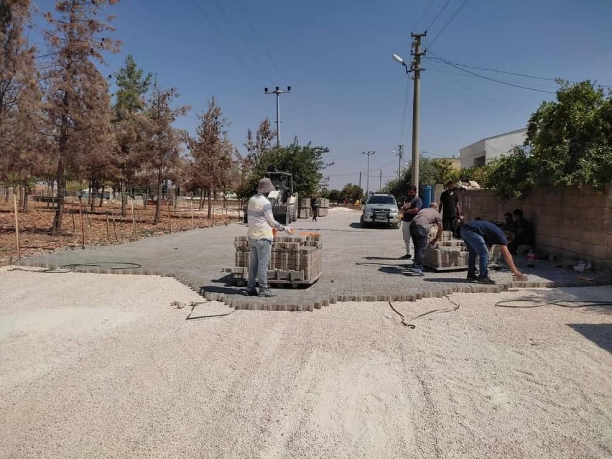 Halfeti'de kırsal mahalleler toz ve çamurdan kurtuluyor