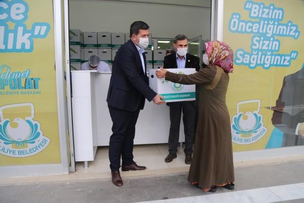 Haliliye'de çölyak hastalarına gıda kolisi desteği