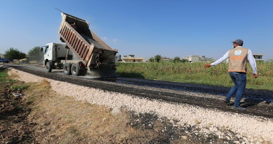 Haliliye kırsalda asfalt çalışamaları