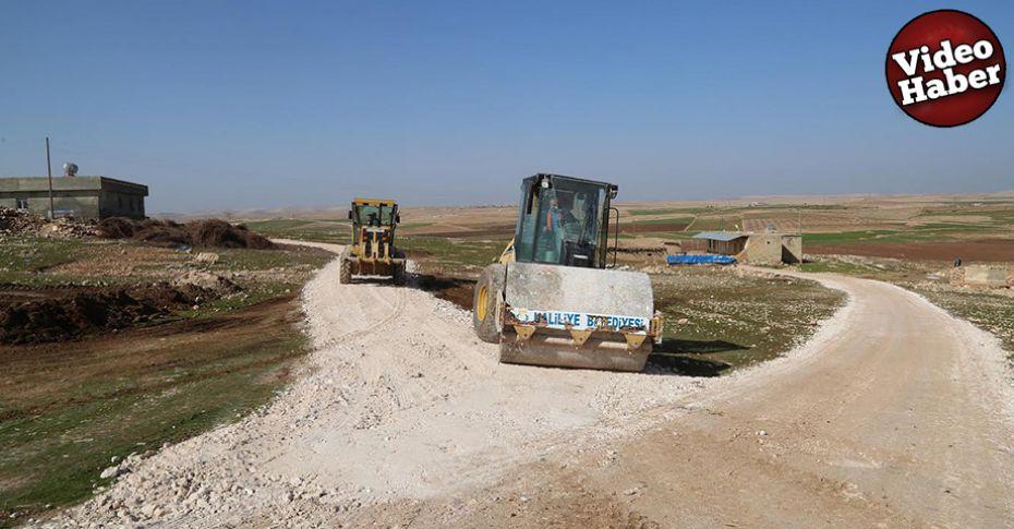 Haliliye kırsalında yol yapım çalışması
