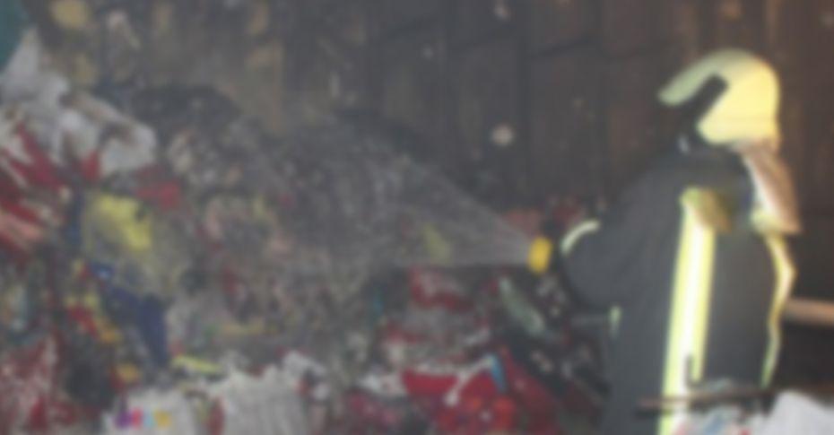 Haliliye'de bir iş yerinde yangın çıktı