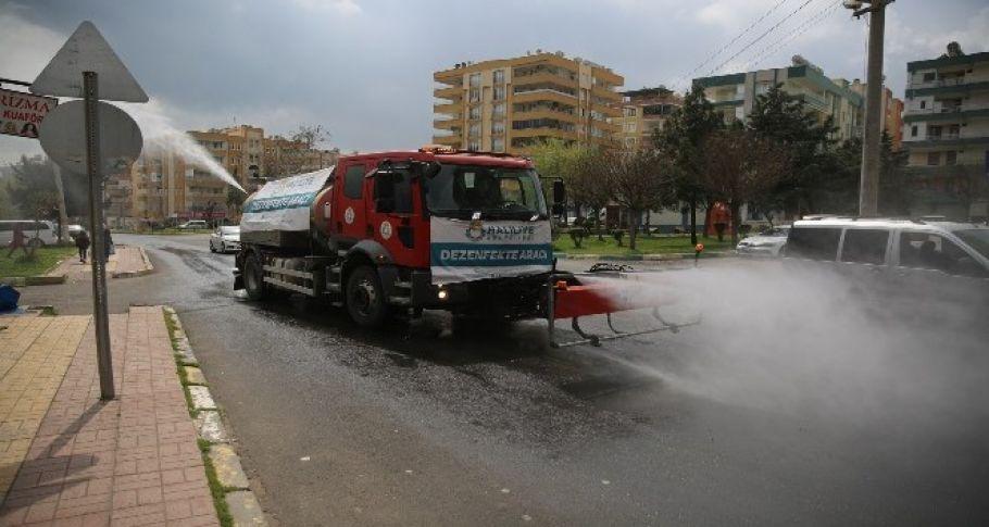 Haliliye'de dezenfekte çalışmaları sürüyor (videolu)