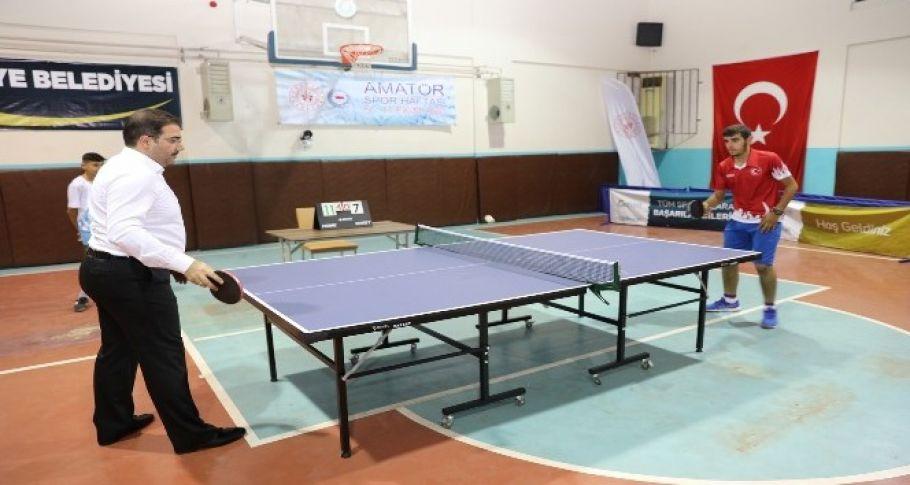 Haliliye'de masa tenisi turnuvası düzenlendi