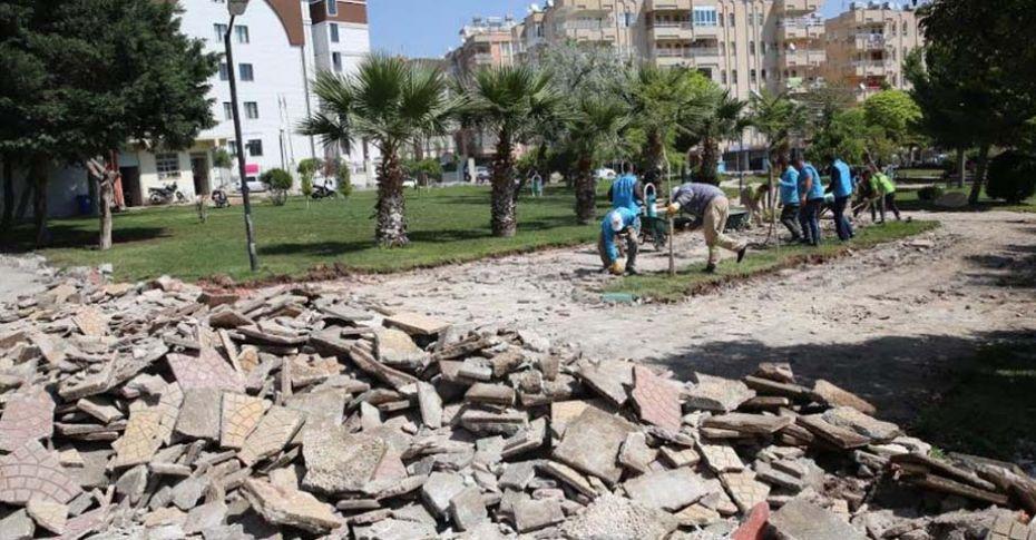 Haliliye'de park yapım çalışması