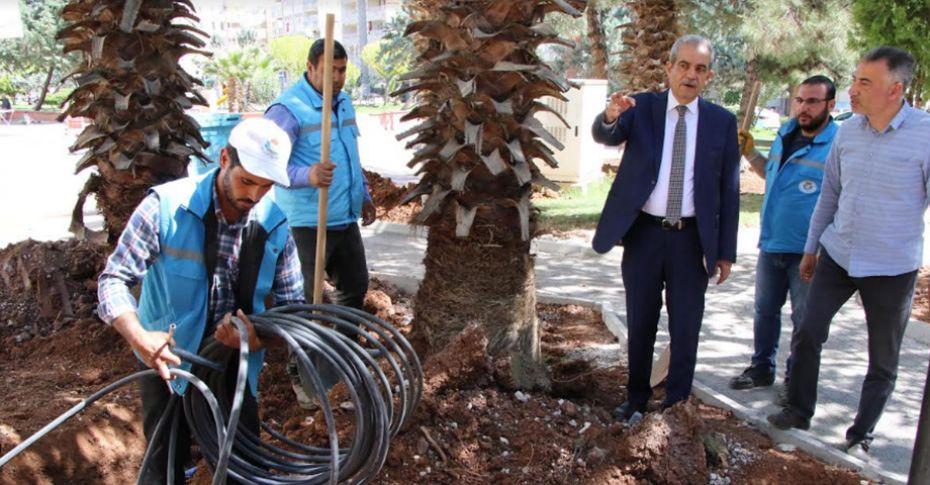 Haliliye'de park yenileme çalışmaları sürüyor