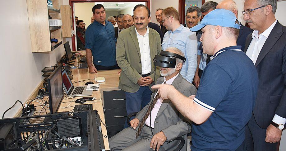 Harran Üniversitesi, sanal gerçeklik laboratuvarının açılışını (videolu)