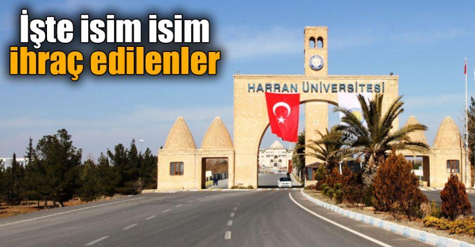 Harran Üniversitesinde 9 akademisyen ihraç edildi