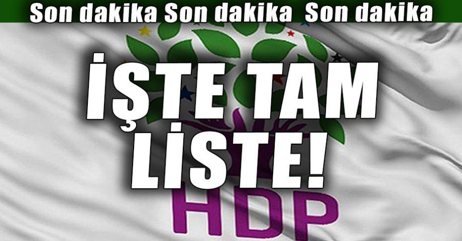 HDP Şanlıurfa Milletvekili Aday Listesi belli oldu!