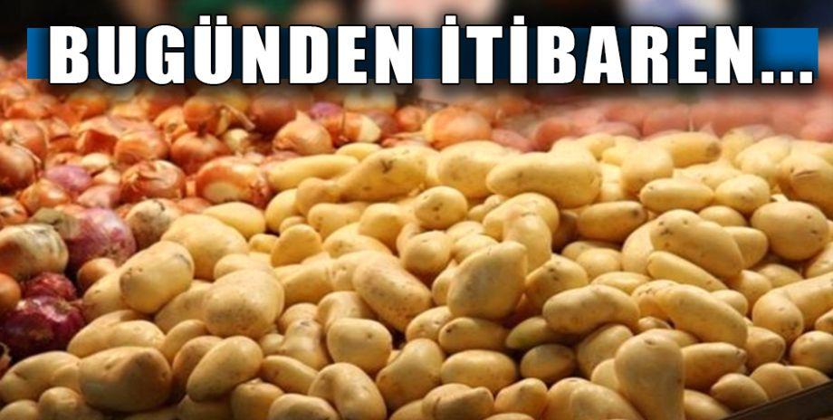 Hükümetten soğan ve patates fiyatlarına müdahale