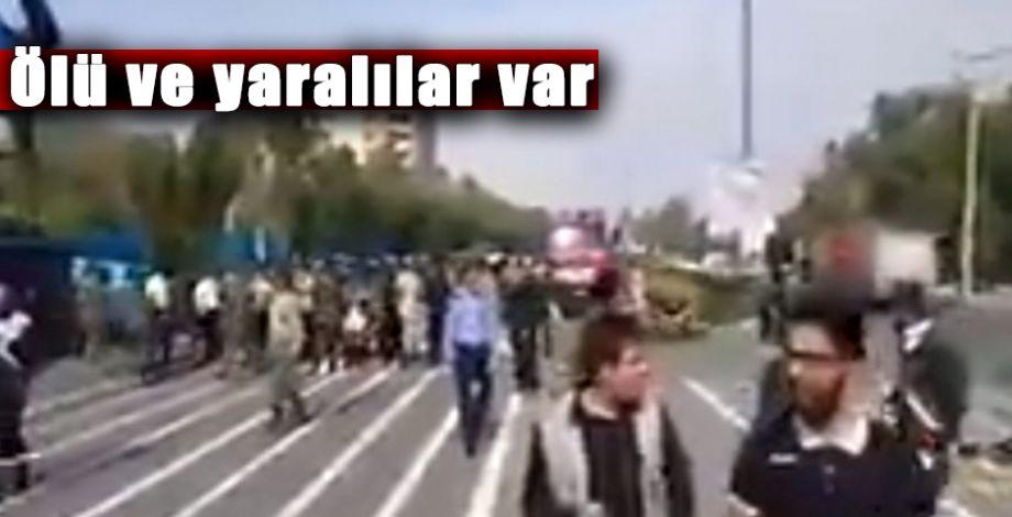 İran'da askeri geçiş sırasında ateş açıldı!