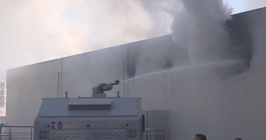 İş yerinde yangın: 1 ölü, 5 yaralı
