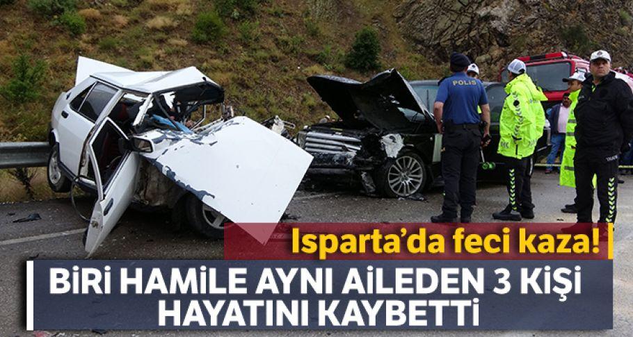 Isparta-Konya karayolu üzerinde feci kaza