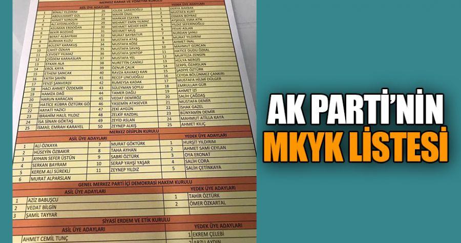 İşte AK Parti'nin yeni MKYK listesi