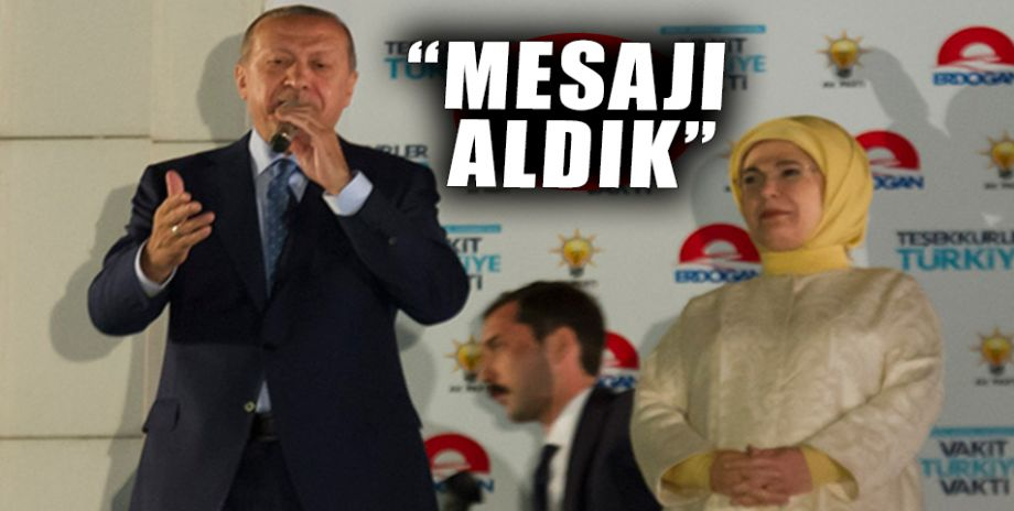 İşte Cumhurbaşkanı Erdoğan'nın balkon konuşması