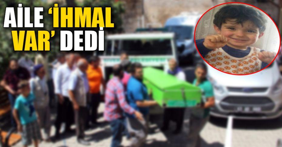 Kafasına korkuluğun ucu saplanan çocuğun cenazesi ailesine teslim edildi