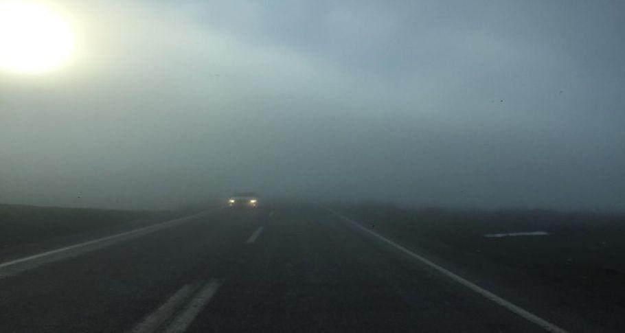 Kahta-Siverek karayolunda yoğun sis