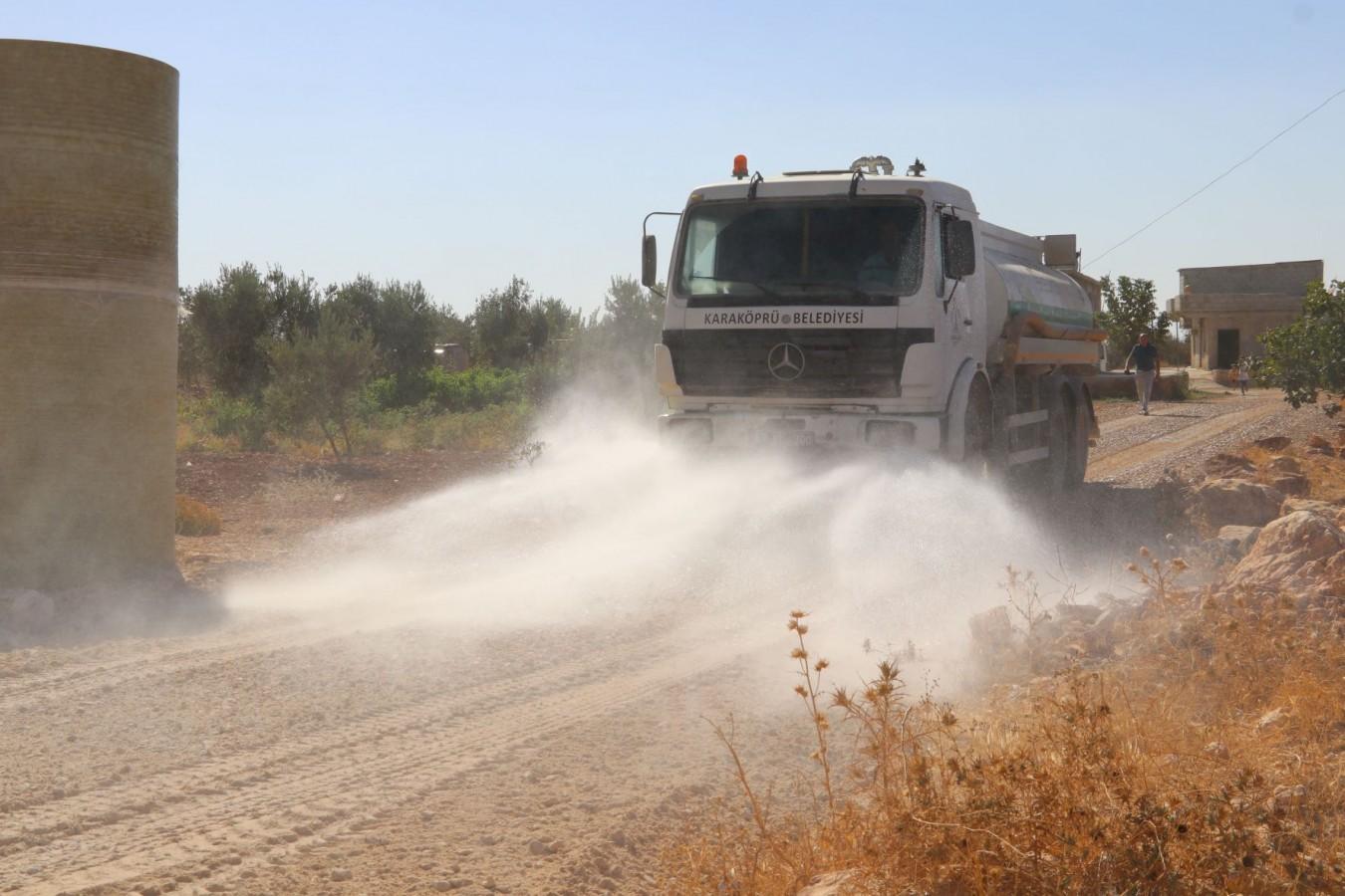 Karaköprü'deki yollar stabilize malzeme serimiyle yenilendi