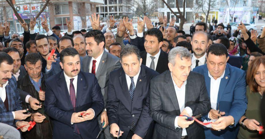 Karaköprü'de Cumhur İttifakı seçim bürosu açıldı(videolu)