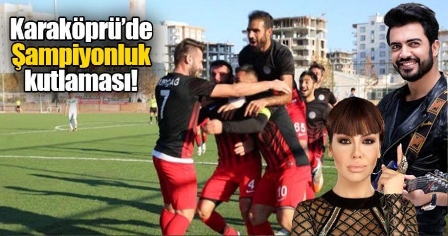 Karaköprüspor şampiyonluk kutlaması