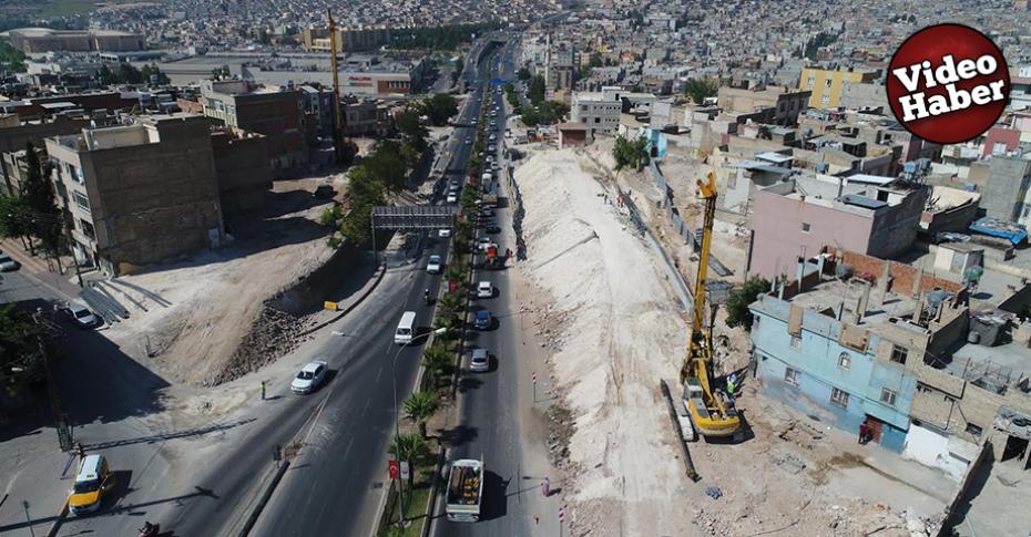 Karakoyun Köprülü kavşağında çalışmalar devam ediyor