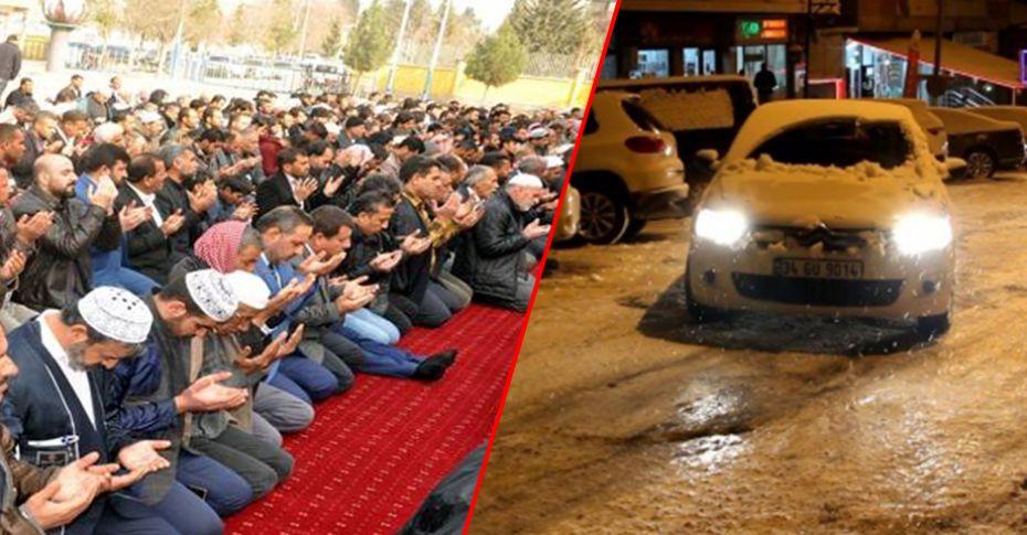 Kars'ta kar, Şanlıurfa'da yağmur duası